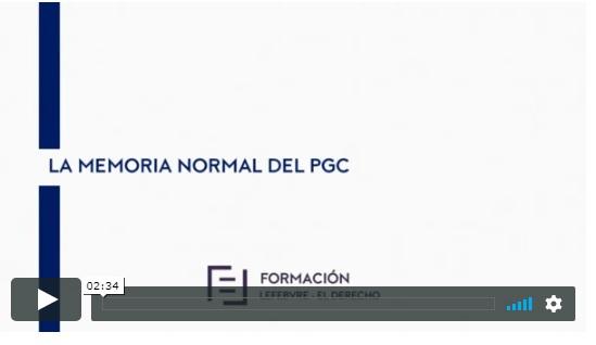 Contenido de la memoria normal de las cuentas anuales (E-Learning)